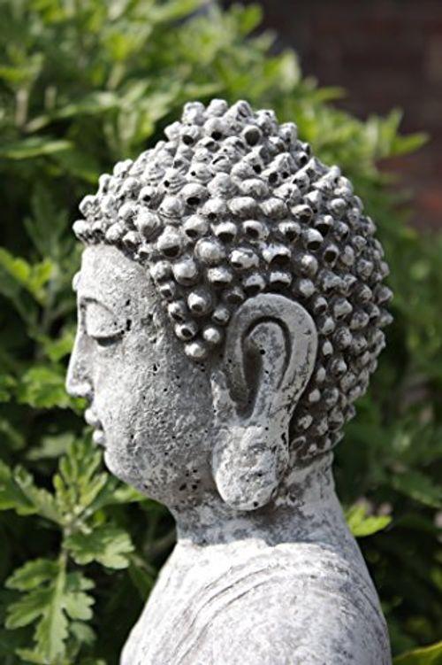 photo Wallpaper of Stone and Style-Steinfigur Großer Buddha Shiva, Frostfest Bis  30°C, Massiver Steinguss-