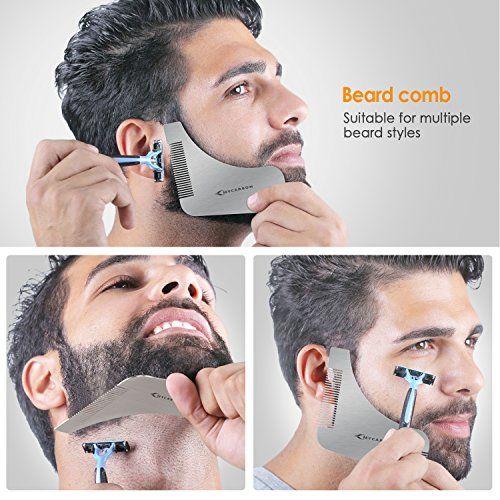 photo Wallpaper of MYCARBON-MYCARBON Bart Schablone Bartpflege Bartschablone Bartformen Für Kinnbart Koteletten Hals|Mit-