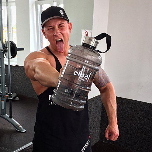 photo Wallpaper of Dual-Dual Bottle / Water Jug / 2.2 Liter / Wasserflasche / Trinkflasche / Perfekt-Schwarz