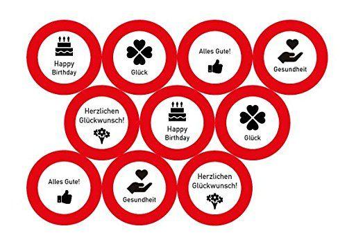 photo Wallpaper of Unbekannt-23 Tlg. Partyset 30. Geburtstag Dekoset Dekobox   Verkehrschild   Girlanden, Luftballons-