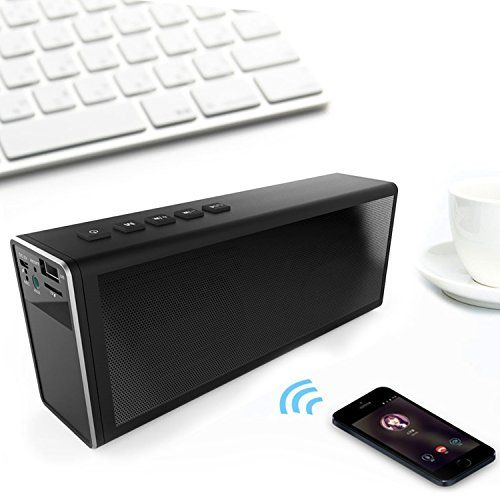 photo Wallpaper of Zenoplige-Zenoplige Portable Bluetooth Lautsprecher Mobiler Kabelloser Lautsprecher Für IPhone, Samsung Usw.(Schwarz)-