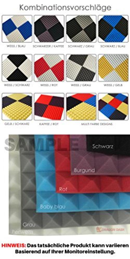 photo Wallpaper of Super Dash Pyramid Acoustic Foam-Super Dash 96 Stucke Von 25 X 25 X 5 Cm Schwarz &-Schwarz & Grau