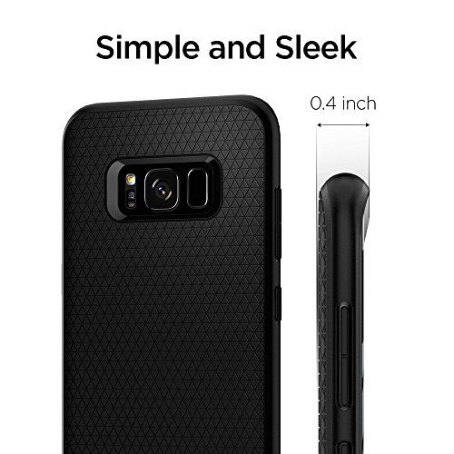 photo Wallpaper of Spigen-Spigen Liquid Air Samsung Galaxy S8 Hülle (565CS21611) Stylisch Muster Design Handyhülle-LA Schwarz