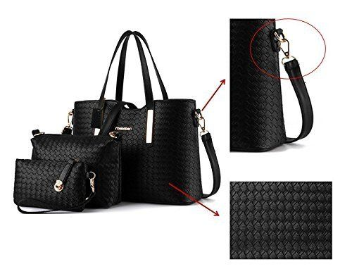 photo Wallpaper of Sunroyal-Damen Handtasche, Mode PU Lackleder Tasche Mit Alligator Muster, 3 Teiliges-Blau