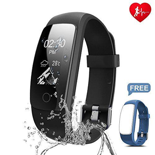 photo Wallpaper of Chianruey-Chianruey Fitness Armband Mit Herzfrequenz Fitness Tracker Pulsuhr Aktivitätstracker Mit Schlafüberwachung,Wasserdicht-Schwarz+Blau Ersatzband