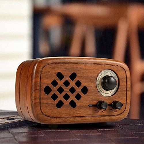 photo Wallpaper of Komost-Komost Handgemacht Walnußholz Tragbar Bluetooth Lautsprecher Box, Bluetooth 4.0 Drahtloser Lautsprecher-