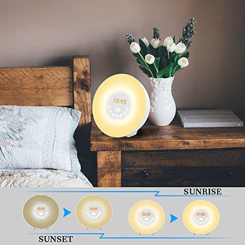 photo Wallpaper of yoozon-Despertador Ligero, YOOZON Despertador Con Luz Que Simula De Amanecer, LED Lámpara Con-Colorful