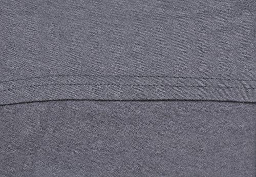 photo Wallpaper of ZJCTUO-Grau Damen Schulterfrei Oberteile Langarm Batwing Asymmetrisch Oversized Shirts Tops Minikleid (38, Grau)-Grau