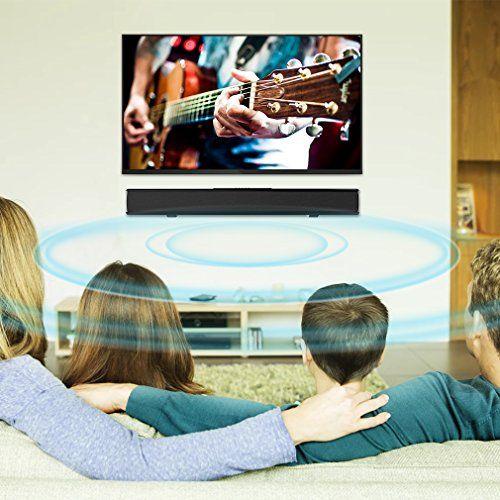photo Wallpaper of meidong-Soundbar Bluetooth Lautsprecher Meidong 2.1 Kanal 2 Subwoofer Speakers, 40W Lautsprecher-Black