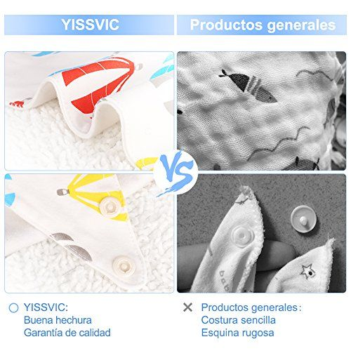 photo Wallpaper of Yissvic-YISSVIC 7pcs Baberos Para Bebé Bandana De Algodón 100% Con-