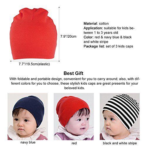 photo Wallpaper of Vbiger-Vbiger 100% Baumwolle Babymütze Wintermütze Kinder Strickmütze Beanie Für Baby Jungen-Farbe 3