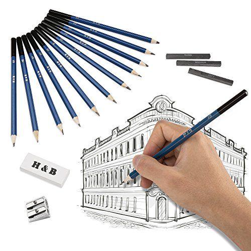 photo Wallpaper of Lypumso-Lypumso Skizzierstifte Set Bleistifte Für Skizzieren Und Zeichnen Profi Art Set Mit-33 Pcs