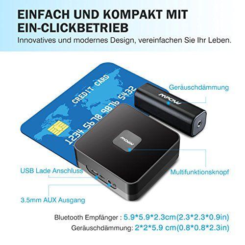 photo Wallpaper of Mpow-Mpow Bluetooth 4.1 Empfänger Audio Adapter Für Stereoanlage Heim HiFi Auto Lautsprecher-Schwarz