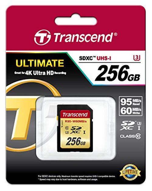 photo Wallpaper of Transcend-Transcend TS256GSDU3 SDXC 256GB Class 3 Speicherkarte USB 3.0-