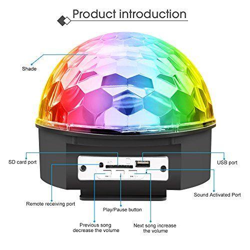 photo Wallpaper of Jomst-Discokugel LED Lichteffekte Party Lampe Beleuchtung Mit Fernbedienung,Jomst RGB Dj Licht, Musik Und-