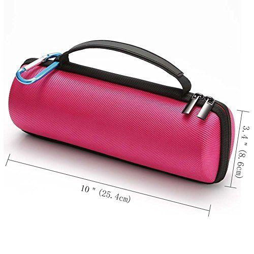 photo Wallpaper of L3 Tech-Harte Reise Lagerung Tragetasche Für JBL Flip 4 / JBL-For Flip 4 / 3 - rose red