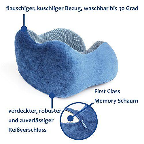 photo Wallpaper of MP Sales Relations-Reise Kissen Memory Schaum I Ergonomisches Nackenstützkissen Kopfkissen Reise Nackenkissen Set Im Flugzeug Zug-Blau