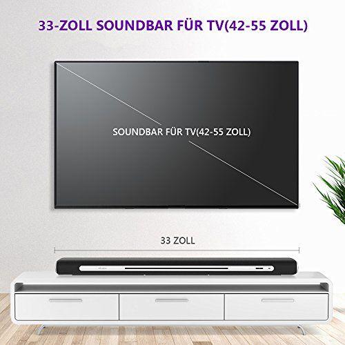 photo Wallpaper of MindKoo-Soundbar Bluetooth, MindKoo 33 Zoll Kräftige Bass Sound Bar Verdrahtete-Schwarz