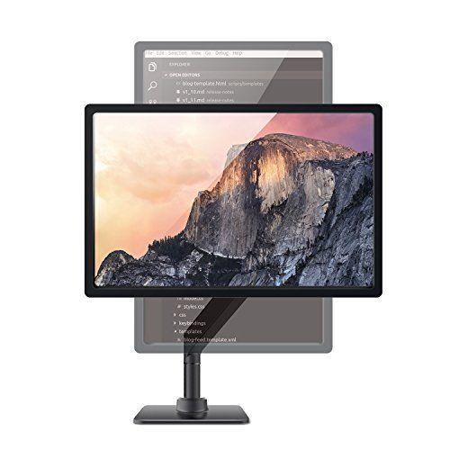 photo Wallpaper of Bestand-Bestand Aluminium Monitor Tischhalterung Mit Schwenkbare Neigbare Drehbare Funktion Für 17'' -Single-arm Table Grau