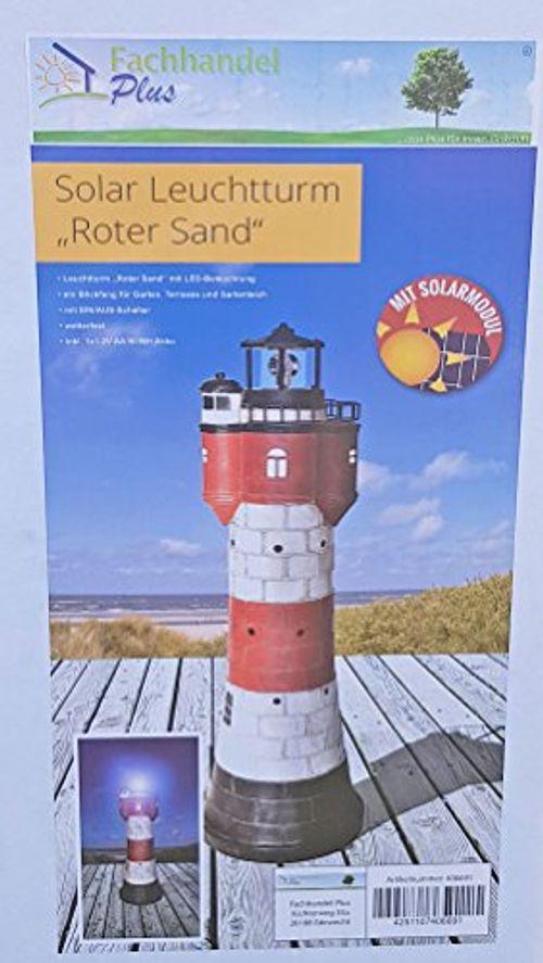 photo Wallpaper of Fachhandel-Plus das Plus für Ihren Einkauf-Leuchtturm Roter Sand Mit Solar Beleuchtung Rundum Leuchtfeuer 80cm Maritime-Mehrfarbig