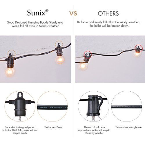 photo Wallpaper of Sunix-Sunix® 7,62m Globe Schnur Lichter, E14 Globe String Licht Mit 25-