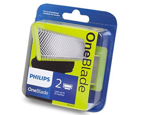 photo Wallpaper of Philips-Philips Norelco OneBlade QP220/50   Recambios Para Máquina De Afeitar (pack De 2)-Negro, Verde, Acero inoxidable