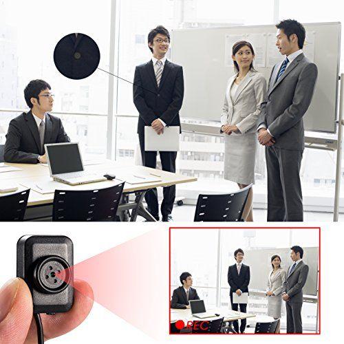 photo Wallpaper of Vaxiuja-Mini Spy Versteckte Kamera, Vaxiuja Ultra Kleinen Knopf Entwurfs Nachtsicht 1080P Full HD-