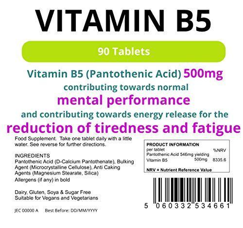 photo Wallpaper of Lindens-Lindens Vitamina B5 500 Mg En Comprimidos | 90 Paquete | Dosis Del-