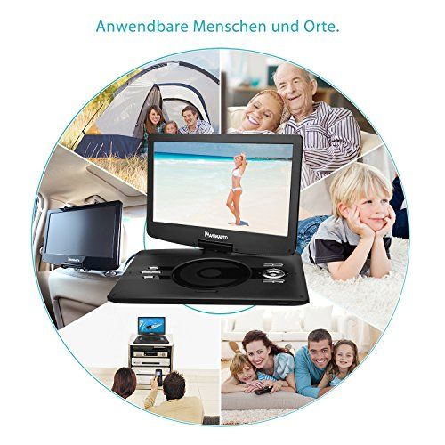 photo Wallpaper of NAVISKAUTO-NAVISKAUTO 12,5 Zoll HD Tragbar DVD Player 4 5 Stunden-Schwarz