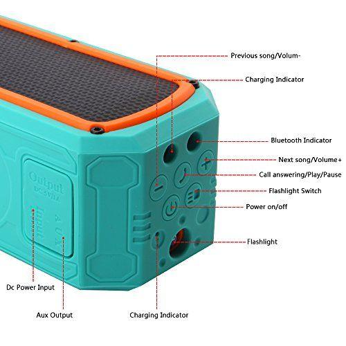 photo Wallpaper of Banaroo-Solar Bluetooth Lautsprecher, BANAROO 55 Stunden Spielzeit Tragbar Lautsprecher Dual Treiber HD-Green