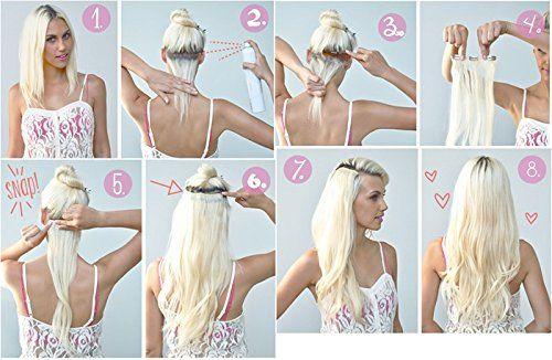 photo Wallpaper of Beauty7-Beauty7 7 Unidades 70g Extensiones De Clip De Pelo Natural Pelucas-8# + 613#