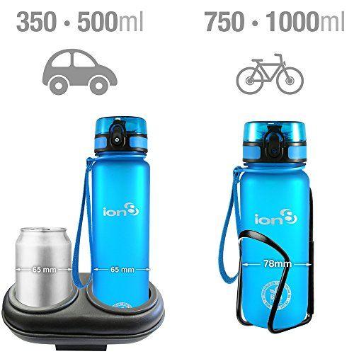 photo Wallpaper of ion8-Ion8 Auslaufsicher Fitness & Outdoor Wasserflasche/Trinkflasche, BPA Frei, 1000ml/32oz-Frostig blau