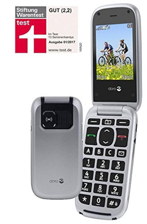 photo Wallpaper of Doro-Doro PhoneEasy 613 Mobiltelefon Im Eleganten Klappdesign (2 Megapixel Kamera, Große Tasten-silber