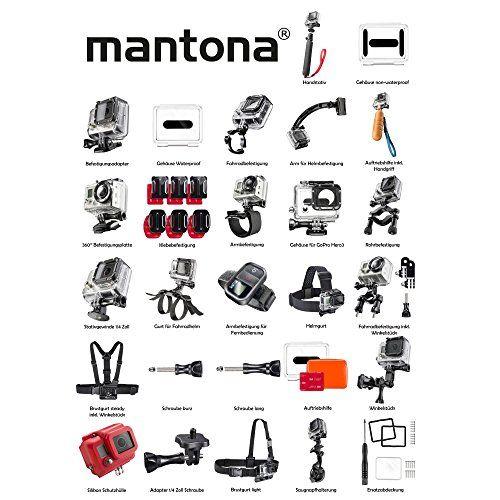 photo Wallpaper of Mantona-Mantona GoPro Set Inline Skating Inkl. Brustgurt/Armgurt/Handstativ Und Klebebefestigung-