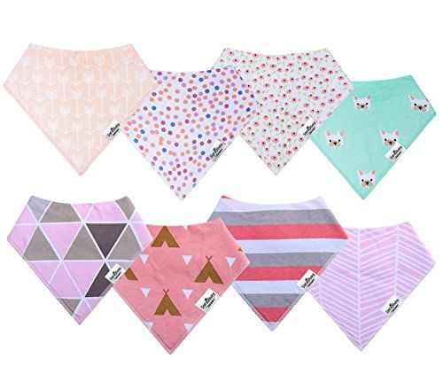photo Wallpaper of storeofbaby-Storeofbaby Baby Bandana Drool Baberos Ultra Soft Absorbent Pack Of 8 For-Rosado