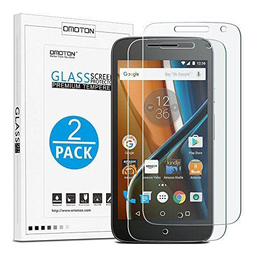 photo Wallpaper of OMOTON-[2 Stück] OMOTON Panzerglas Displayschutzfolie Für Motorola Moto G4, Anti Kratzen,-Geh�rtetes Glas