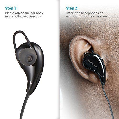 photo Wallpaper of TOPLUS-Sport Kopfhörer Bluetooth In Ear Kopfhörer, TOPLUS In Ear Hifi Stereo Bluetooth Ohrhörer-schwarz