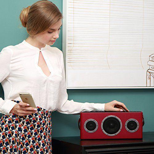 photo Wallpaper of GGMM-GGMM M4 Portable WLAN Lautsprecher AirPlay Lautsprecher Multiroom Wi Fi/ Bluetooth Lautsprecher-rot