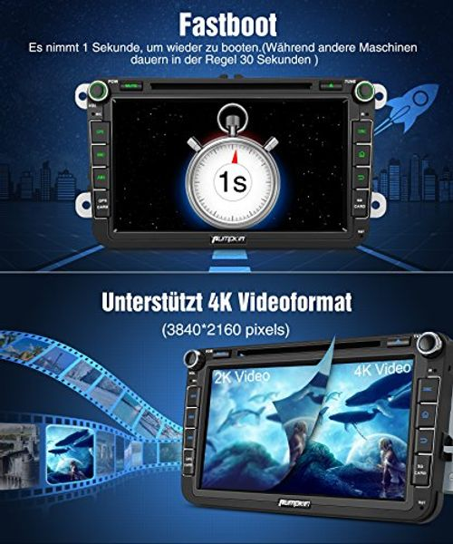 photo Wallpaper of PUMPKIN-PUMPKIN Android 8.0 Autoradio 4GB DVD Player Für VW Mit-PUMPKIN Android 8.0 4GB Autoradio