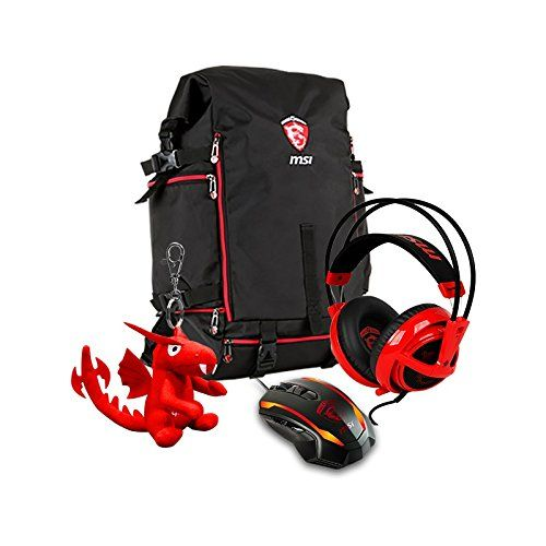 photo Wallpaper of MSI-MSI Gaming Xmas Pack 2016 For GE Hecate Gaming Rucksack, SteelSeries Gaming Maus-Schwarz, Rot