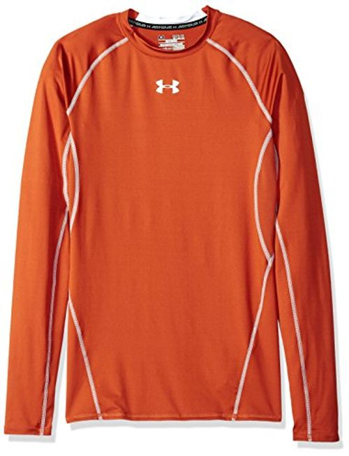 photo Wallpaper of Under Armour-Under Armour Herren Shirt Mit Rundhalsausschnitt Größe L Texas Orange/White-Texas Orange/White