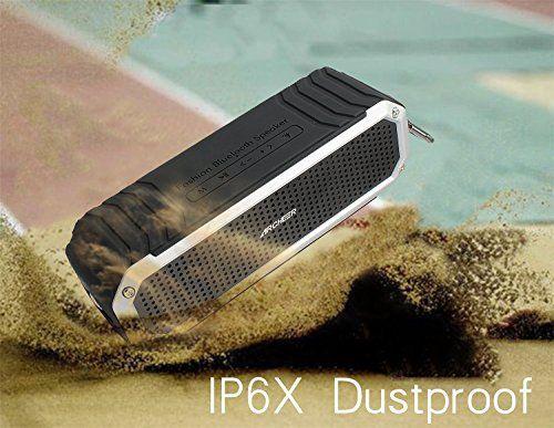 photo Wallpaper of Archeer-Bluetooth Lautsprecher, Archeer 10W Tragbarer Wasserdicht Lautsprecher Outdoor Bluetooth 4.0 Lautsprecher Speaker, 12 Stunden-Silber
