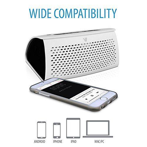 photo Wallpaper of V7-V7 Powerbank Und Bluetooth 3.0 Lautsprecher (3600 MAh, 5 Watt, NFC Verbindungsfunktion)-weiß