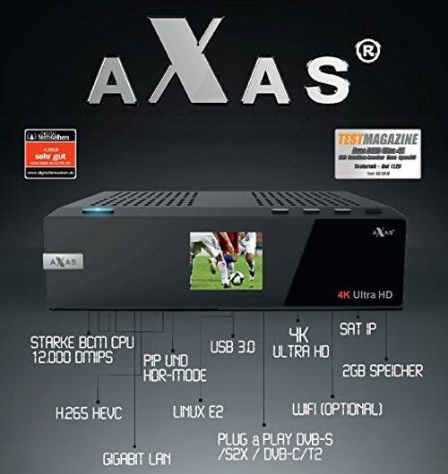 photo Wallpaper of AXAS-Axas E4HD 4K Ultra HD Linux E2 S2X HDTV Sat-