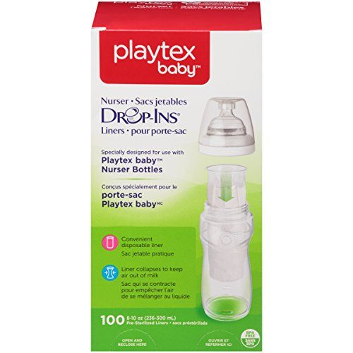 photo Wallpaper of Playtex-Playtex Drop Ins Pre Sterilized Soft Bottle Liners, 8 10 Oz. 100-