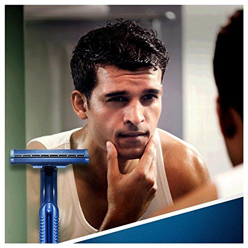 photo Wallpaper of Gillette-Gillette Blue Ii   Maquinillas De Afeitar Desechables (20 Unidades), Color Azul-