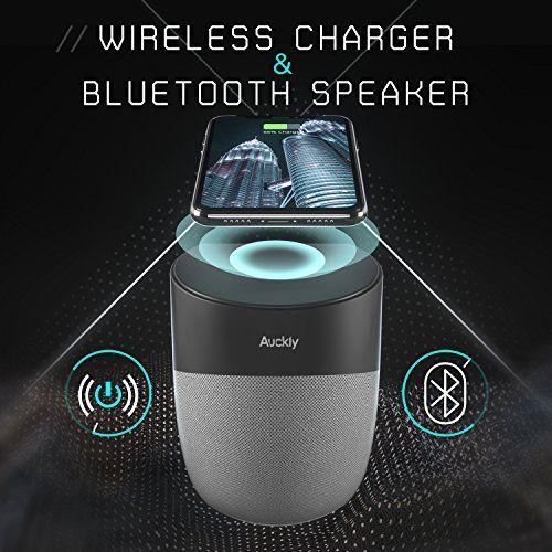 photo Wallpaper of Auckly-Auckly 3 In 1 Bluetooth Lautsprecher, Qi Wireless Ladegerät, Magnetische Handy Halterung Für IPhone-grau