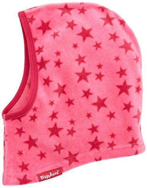 photo Wallpaper of Playshoes-Playshoes Mädchen Mütze Warme Kinder Fleece Schlupfmütze Sterne, Rosa (Pink 18),-Rosa (Pink 18)