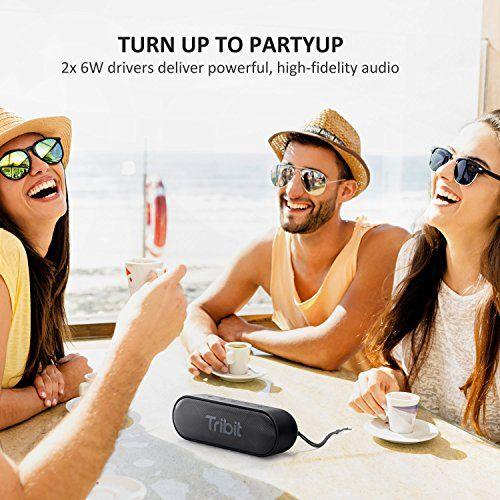 photo Wallpaper of Tribit-Bluetooth Lautsprecher, Tribit XSound Go Tragbarer Bluetooth Lautsprecher, 2 × 6W Kabelloser Lautsprecher Mit-