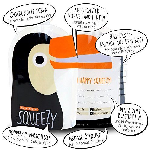 photo Wallpaper of Happy Squeezy-Happy Squeezy (8 Bolsas) Bolsas De Comida Para Bebés Reutilizables  -